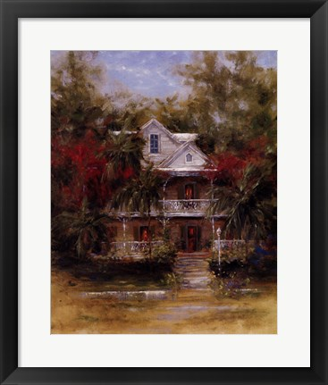 Framed Keywest Cottage II Print