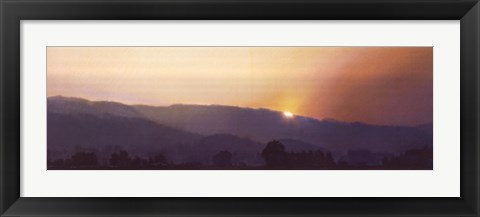 Framed Smokey Sunset Print