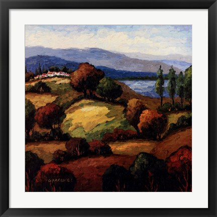 Framed Golden Hills I Print