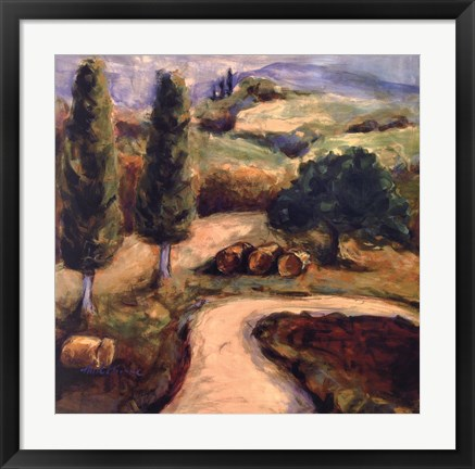 Framed Road To Montpulciano Print