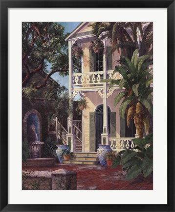 Framed Coquina Court Print