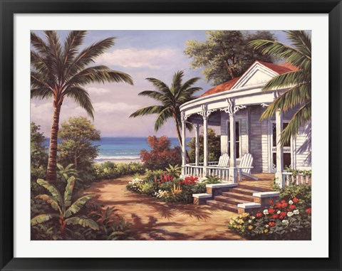 Framed Summer House II Print