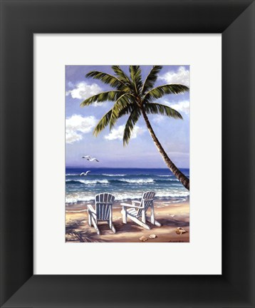 Framed Hidden Beach Print