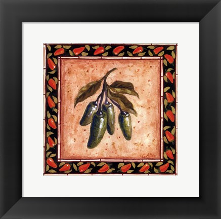 Framed Chiles IV Print