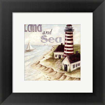 Framed Land And Sea Print