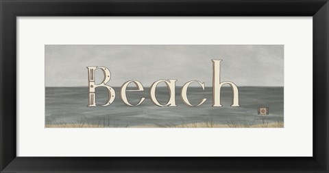 Framed Beach Print