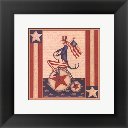 Framed Star Spangled Boy Print
