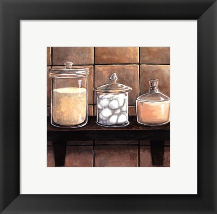 Framed Modern Bath Elements II Print