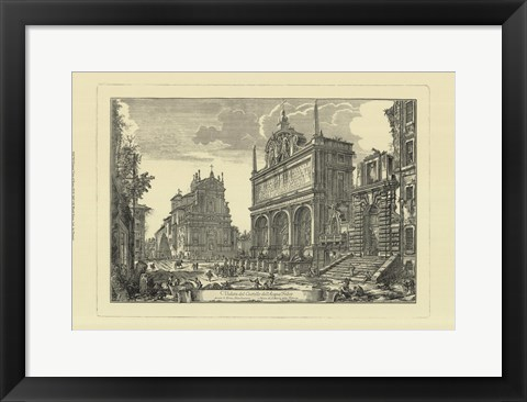 Framed Piranesi View Of Rome III Print