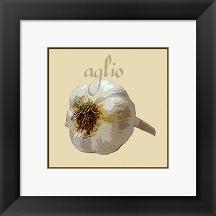 Framed Italian Vegetable III Print