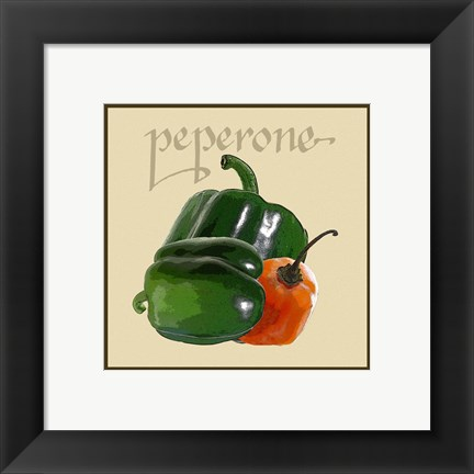 Framed Italian Vegetable IV Print