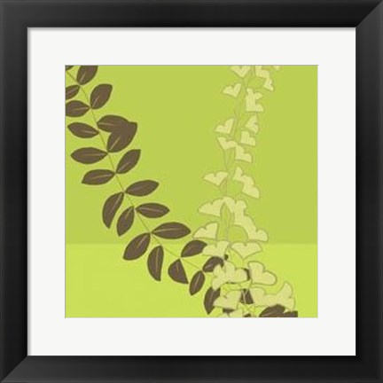 Framed Serpentine Vines I Print