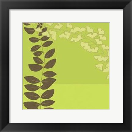Framed Serpentine Vines IV Print