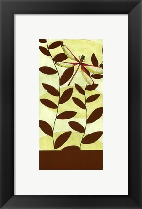 Framed Dragonfly Whimsey II Print