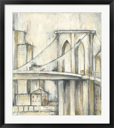 Framed Urban Bridgescape I Print