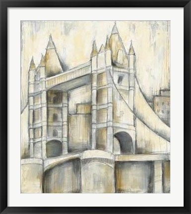 Framed Urban Bridgescape II Print