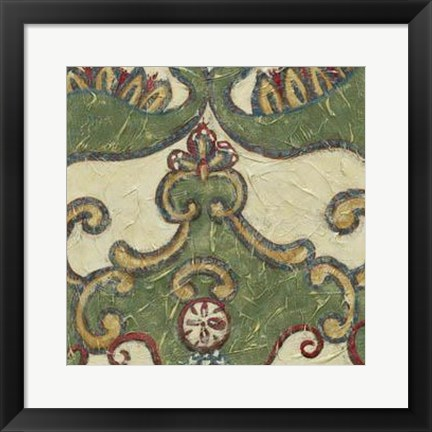 Framed Textured Tapestry II Print