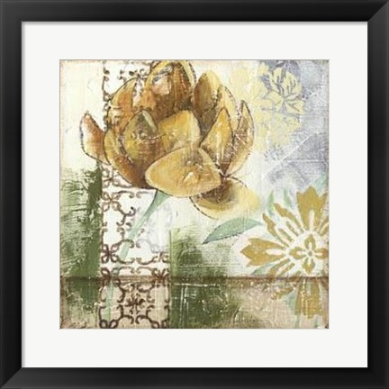 Framed Globeflower Fresco I Print