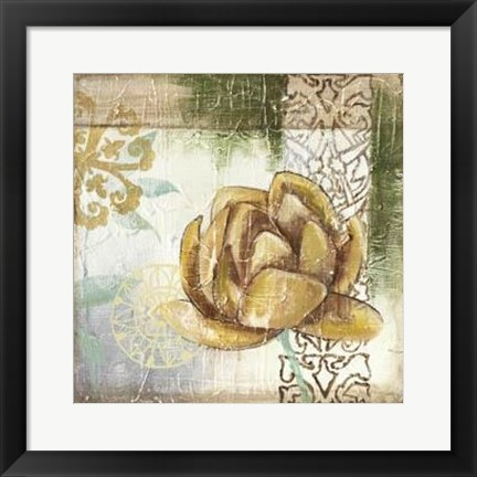 Framed Globeflower Fresco II Print