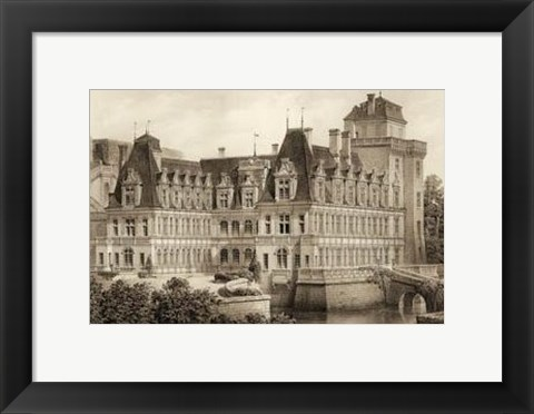 Framed Petite Sepia Chateaux IV Print