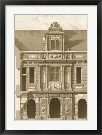 Framed French Architecture I Print