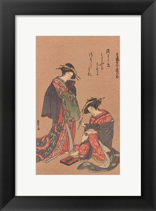 Framed Women Of Japan III Print