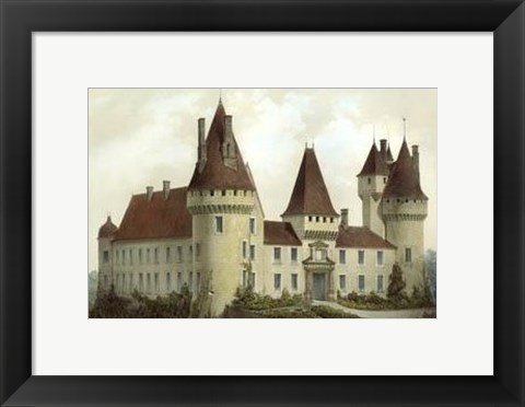 Framed Petite French Chateaux I Print