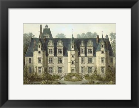Framed Petite French Chateaux III Print