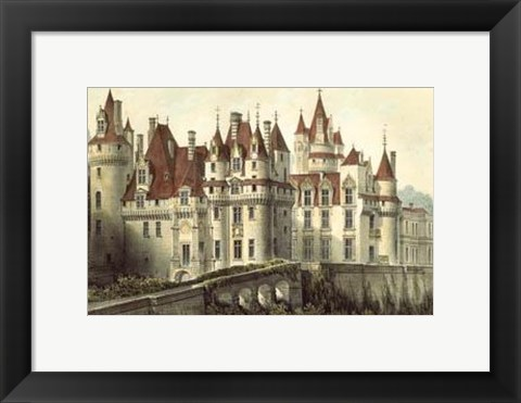 Framed Petite French Chateaux VII Print