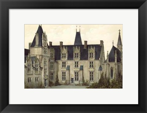 Framed Petite French Chateaux VIII Print