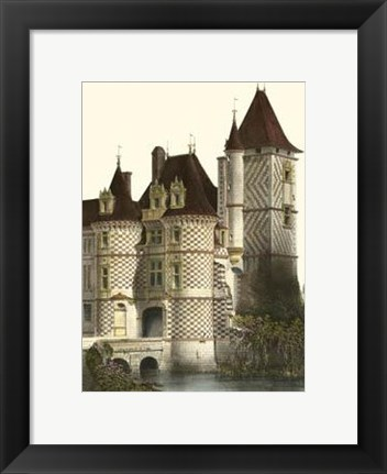 Framed Petite French Chateaux X Print