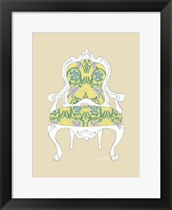 Framed Decorative Chair II Print