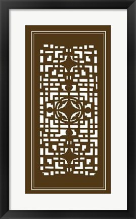 Framed Shoji Screen In Brown IV Print