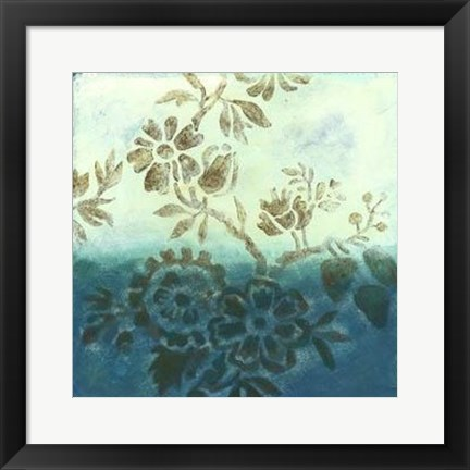 Framed Cerulean Dream I Print