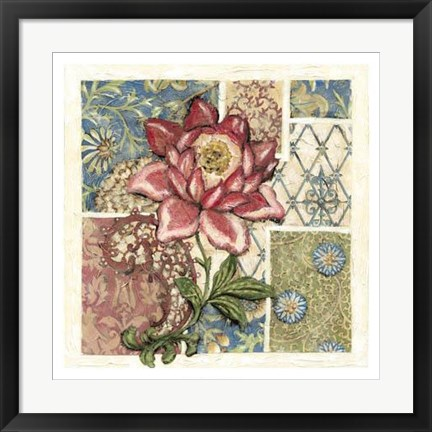Framed Rose Chintz II Print