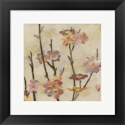 Framed Blossom Collage II Print