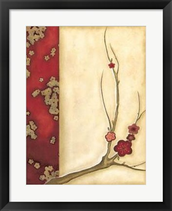 Framed Crimson Branch I Print