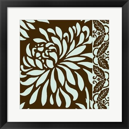Framed Striking Chrysanthemums I Print