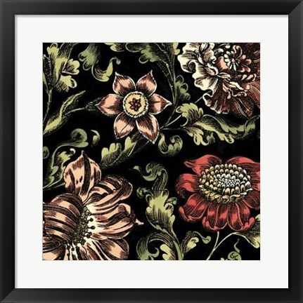 Framed Floral Fancy III Print