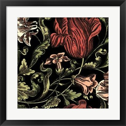 Framed Floral Fancy IV Print