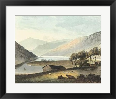 Framed Picturesque English Lake I Print