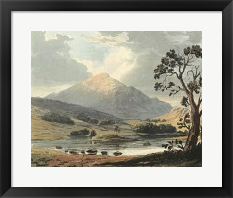 Framed Picturesque English Lake II Print