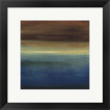 Framed Abstract Horizon III Print