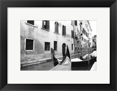 Framed Venetian Waterway Print