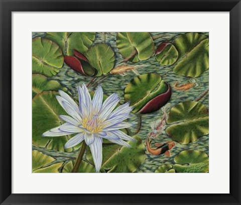 Framed Enchanting Lily Print