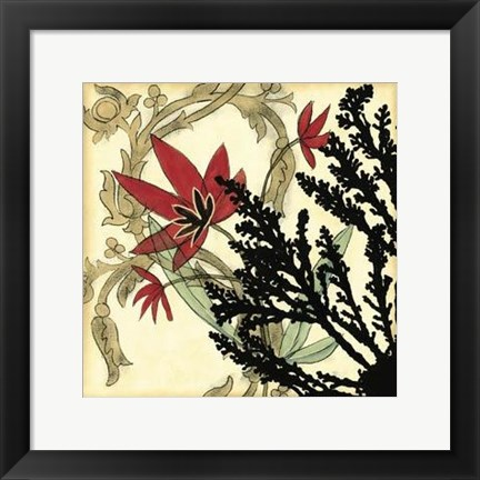 Framed Coral Tapestry II Print
