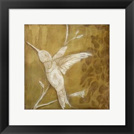 Framed Wings and Damask II Print