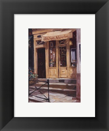 Framed Shop Of The Three Steps, Paris Print