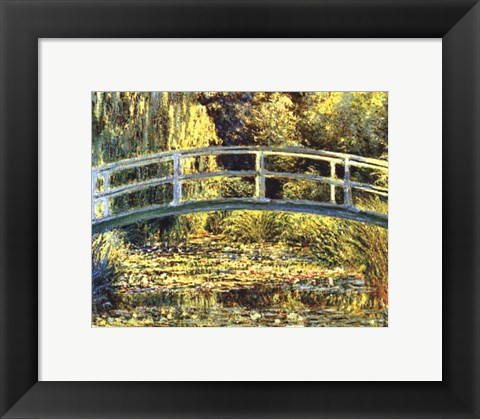 Framed Waterlily Pond Print