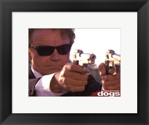 Framed Reservoir Dogs - Mr White Guns Print